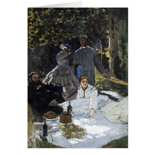Hora de comer en la hierba tarjeta de felicitación