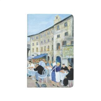 Hora de comer en una plaza del mercado Toscana Cuaderno