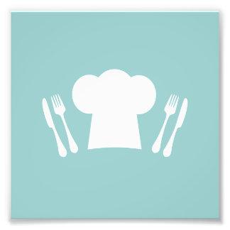 ¡Hora de comer! Gorra, cuchillo y bifurcación del Cojinete