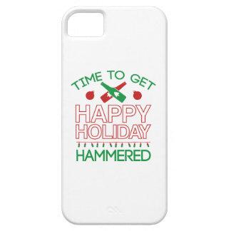 Hora de conseguir día de fiesta feliz martillado iPhone 5 Case-Mate carcasas