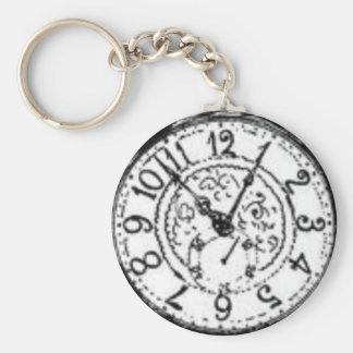 Hora de conseguir un reloj llavero redondo tipo pin