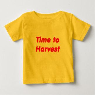 Hora de cosechar letras rojas playera