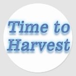 Hora de cosechar V2 Pegatina Redonda