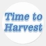Hora de cosechar V2 Pegatinas Redondas