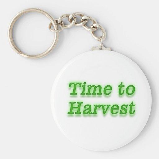 Hora de cosechar V3 Llavero Redondo Tipo Pin