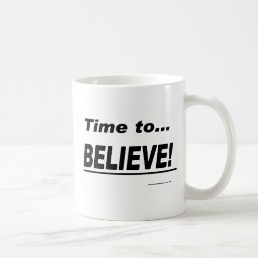 Hora de creer taza básica blanca