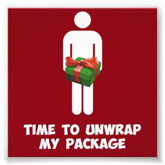 Hora de desempaquetar mi paquete del navidad fotografías