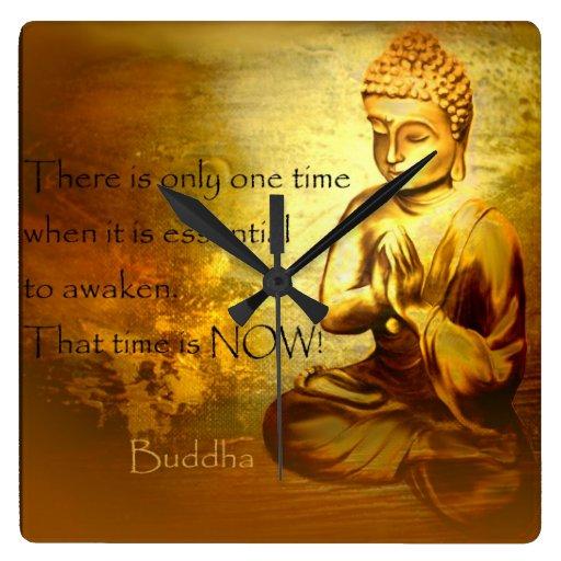 Hora de despertar… el reloj de la cita de Buda