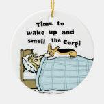 Hora de despertar y de oler el Corgi Ornamento De Reyes Magos