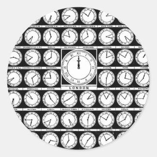 Hora de Greenwich Pegatina Redonda