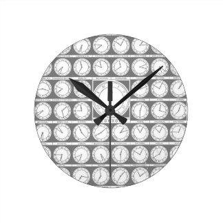 Hora de Greenwich Reloj Redondo Mediano