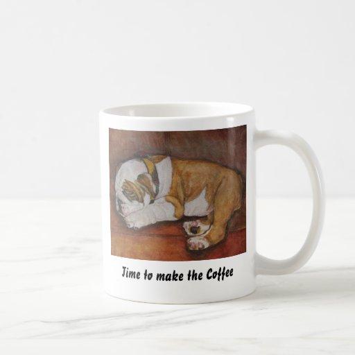 Hora de hacer el café tazas de café