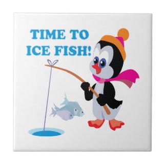 Hora de helar pescados azulejo ceramica