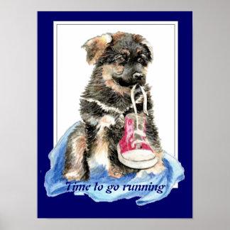 Hora de ir a funcionar con el perro lindo de la ci poster