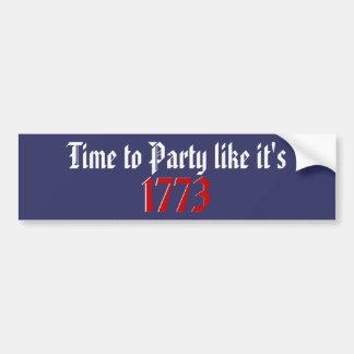 Hora de ir de fiesta como él es 1773 pegatina para auto