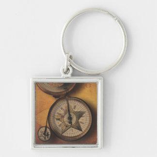 Hora de ir reloj de Steampunk en la bicicleta del  Llaveros Personalizados