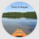 Hora de kayak pegatinas pegatina redonda