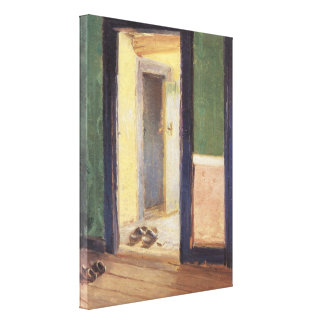 Hora de la cena de Ana Ancher, impresionismo del Impresiones En Lona Estiradas