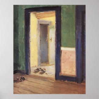 Hora de la cena de Ana Ancher, impresionismo del Póster