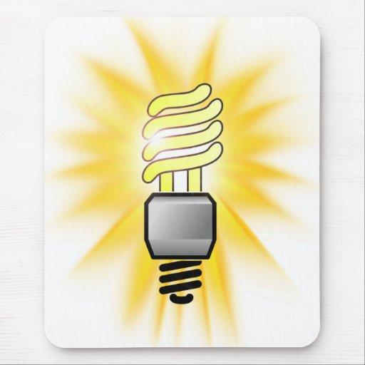 Hora de la tierra - bombilla del ahorrador de ener mousepad