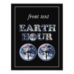 Hora de la tierra - texto w/Clocks 830-930 de la Invitación 10,8 X 13,9 Cm