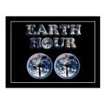 Hora de la tierra - texto w/Clocks 830-930 de la Postal