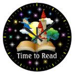 Hora de leer - reloj de pared de la instrucción -