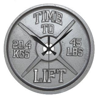 Hora de levantar - el reloj de pared de la placa