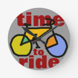 hora de montar la bici del ~ relojes de pared