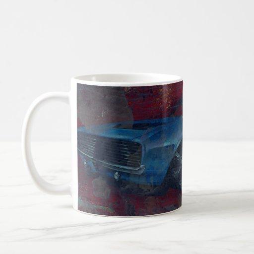 Hora de montar - la pintada azul del coche tazas de café