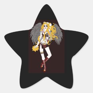 Hora de oscilar pegatina en forma de estrella