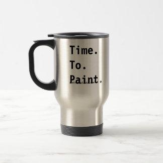 Hora de pintar la taza del viaje de los artistas