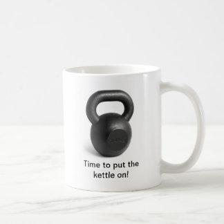 Hora de poner la caldera en la taza