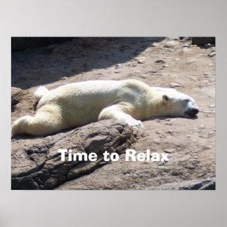 Hora de relajarse póster