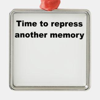 hora de reprimir otro memory.png adorno navideño cuadrado de metal