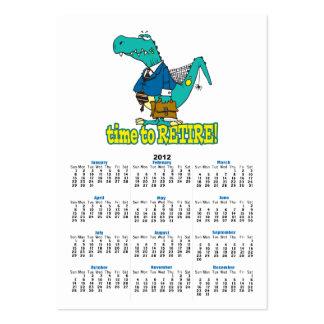 hora de retirar el dinosaurio de trabajo viejo plantillas de tarjetas personales