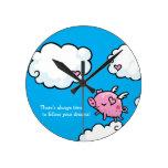 Hora de seguir sus sueños que vuelan el cerdo relojes