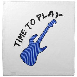 Hora de tocar la guitarra eléctrica - fondo de servilletas de papel