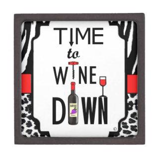 Hora de wine abajo caja de joyas de calidad