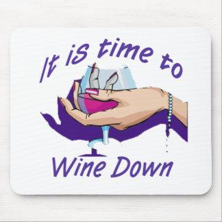 Hora de wine abajo tapetes de raton