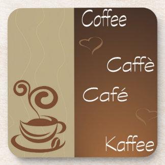 hora del café posavasos de bebidas