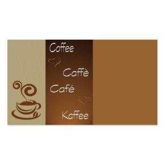 hora del café tarjetas de visita