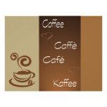 hora del café tarjetas publicitarias