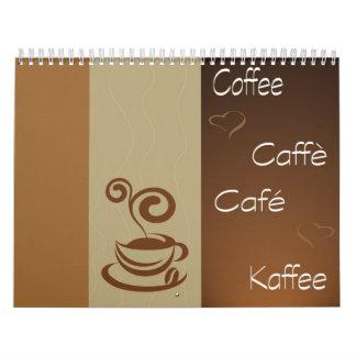 hora del café calendario de pared