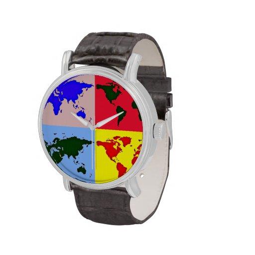 hora del mundo del gráfico de color