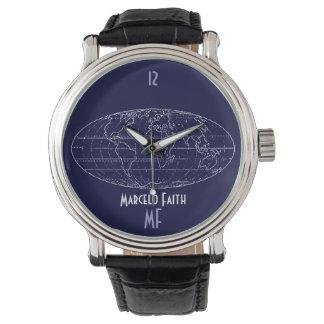 hora del planisferio reloj de mano