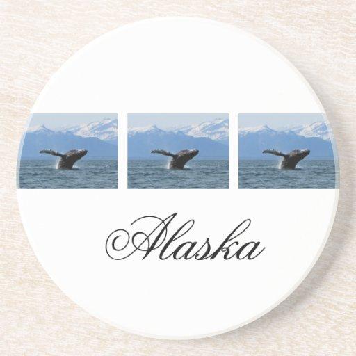 Hora del recreo de la ballena; Alaska Posavasos Diseño