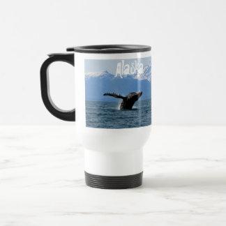 Hora del recreo de la ballena; Alaska Taza De Viaje De Acero Inoxidable
