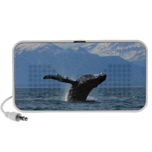 Hora del recreo de la ballena altavoces de viajar