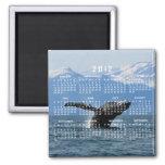 Hora del recreo de la ballena; Calendario 2012 Imán De Frigorífico